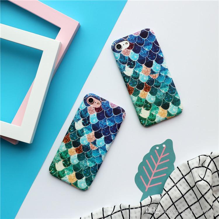 Vente en gros pour l'iPhone 6 6 Plus coloré poisson pleine échelle Protection du corps couverture arrière de cas Shell avec emballage détail Bonne qualité