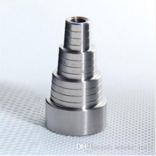 6 в 1 Domeless GR2 Titanium Nail 10/14 мм/18 мм мужской женский dab nail Ti гвозди с титановой карбюраторной крышкой для стеклянного Бонга