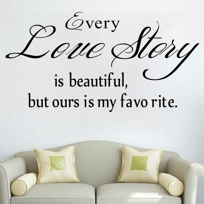 Every Love Story Wall Stickers Romantic Sentence Living Room Home Decor  Vinyl Removable Wall Decal Large Wall Art Stickers Large Wall Decal From  Lin100, ...