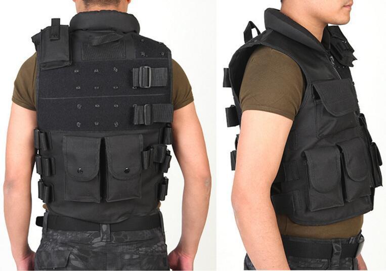 Gilet tattico da uomo Army Caccia Molle Softair Vest Outdoor Body Armor Swat Combattere Painball Black Vest gli uomini