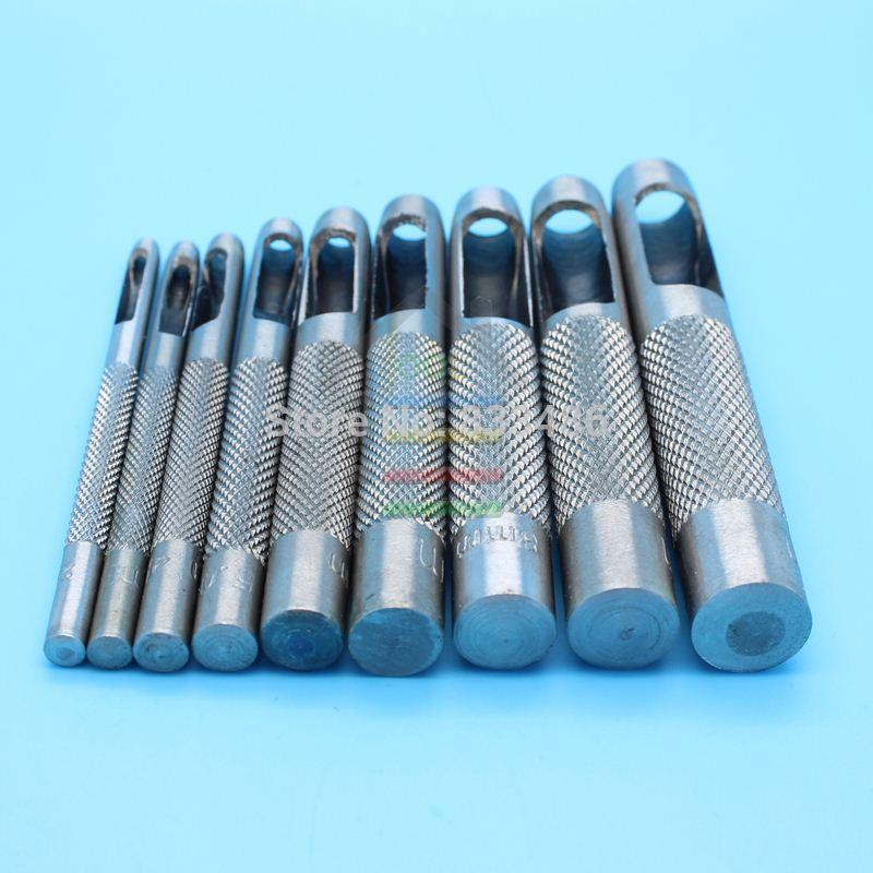 Drill Bits 9pcs Hollow Hole Leather Punch Set Cuts Holes In Leather Plastic Rubber Belt Watch Gasket 2.5mm 3mm 4mm 5mm 6mm 7mm 8mm 9mm 10mm Soft And Light