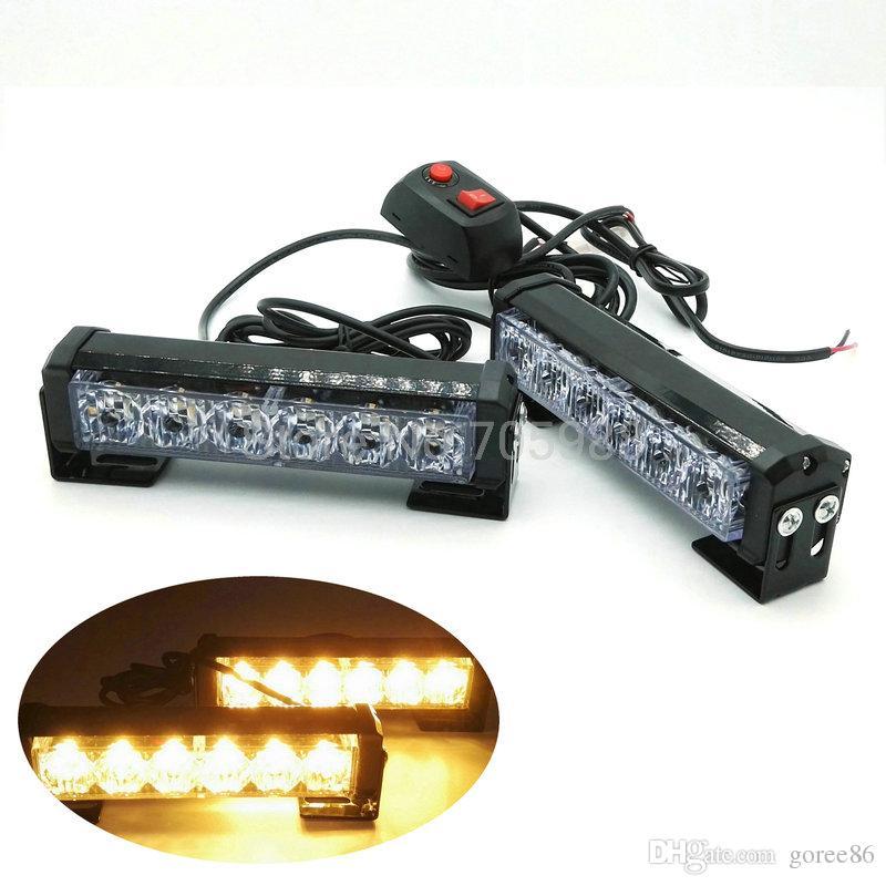 2 * 6 led for x2 12w aluminum alloy led flash lamp slitless stick lamp high power roof lights led working light bar