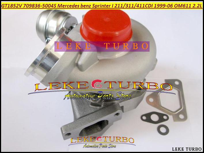 GT1852V 709836-5004S 709836 A6110960899 Turbocharger Turbo For Mercedes benz Sprinter I Van 211CDI 311CDI 411CDI 1999-06 OM611 2.2L 141HP