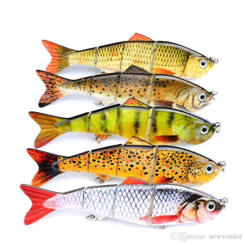 5 Couleur 12cm 17g Nouveau Minnow Leurres de pêche Crank Bait Hooks Basse Crankbaits s'attaquer à Noyer Popper leurres de pêche de haute qualité
