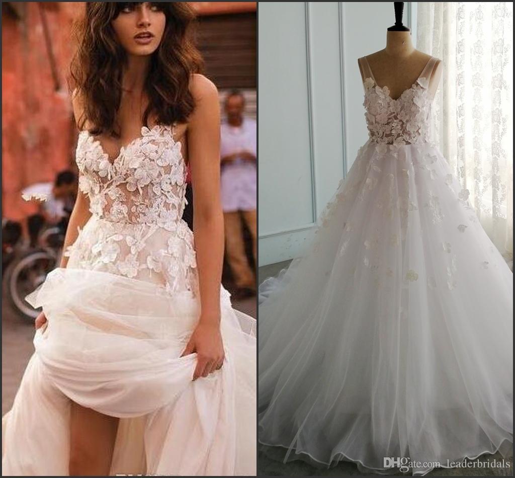 Liz Martinez 2019 Wedding Dresses: Discount 2018 Liz Martinez Beach Wedding Dresses 3D
