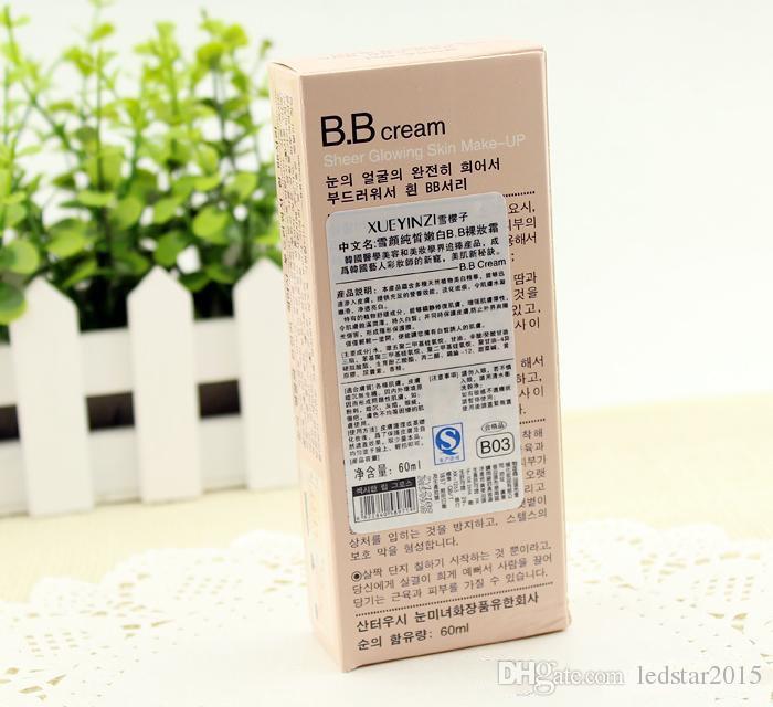 5 stücke 2016 Heiße Koreanische BB Creme cc creme 60 ml Perfekte Abdeckung anti-strahlung BB Creme Kosmetische Whitening Concealer 5 farben Make-Up Concealer