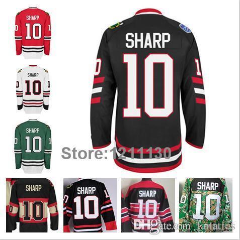 2018 Ice Hockey Stadium Series Chicago Blackhawks Patrick Sharp Jersey 10  Red Black White Green Camo 2016 Stanley Cup Champions Patch From Fanatics,  ...