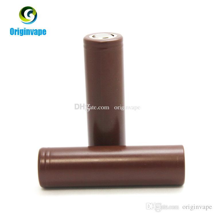 100٪ أصيلة 18650 بطارية hg2 3000 مللي أمبير 35a بطاريات ليثيوم قابلة للشحن باستخدام lg خلية البطارية ل vw box mod فيديكس شحن مجاني