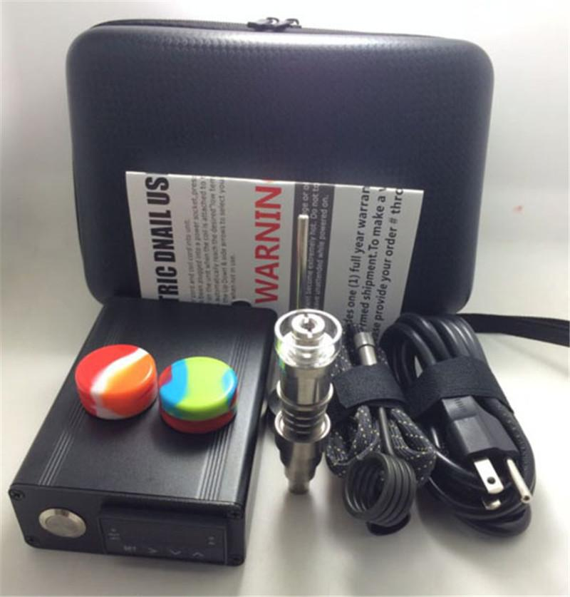 mini electric Titanium Dab nail universal DNail set for 10 16 20mm female glass water pipe bong e cigs Rig vaporizer Kits DHL