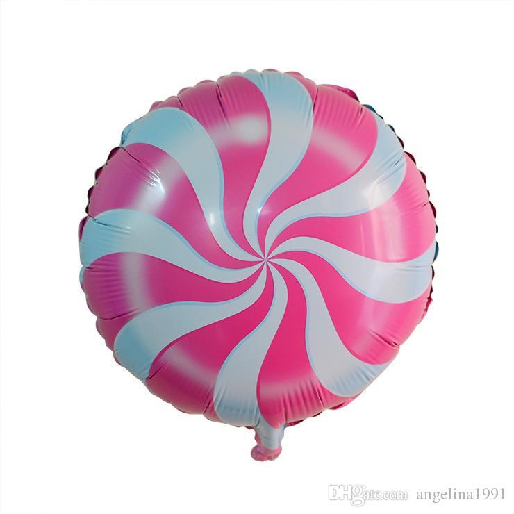 18 بوصة الطرف الديكور مصاصة بالون بالونات الزفاف صديقة للبيئة قابلة للتحلل الهليوم بالونات حزب الحسنات