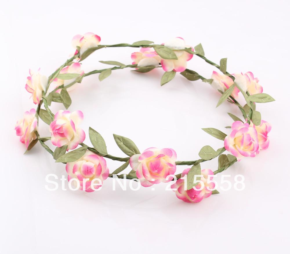 Fashion hawaiian flower garland wedding bridal head crown wreath 14 izmirmasajfo