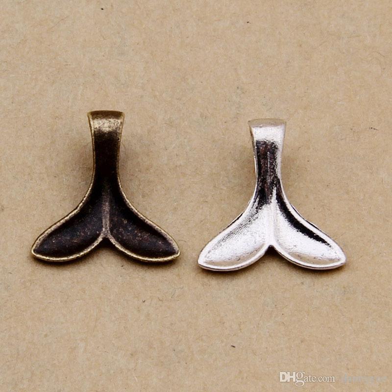 Fascini del pendente di figura della coda della balena della lega all'ingrosso 15 * 15mm AAC1201