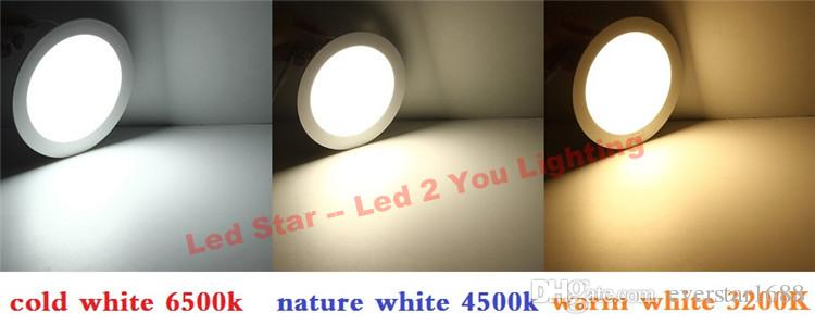 Dimmable 21w led encastrés downlights 4w 6w 9w 12w 15w 18w led plafonniers AC 110-240V + conducteurs