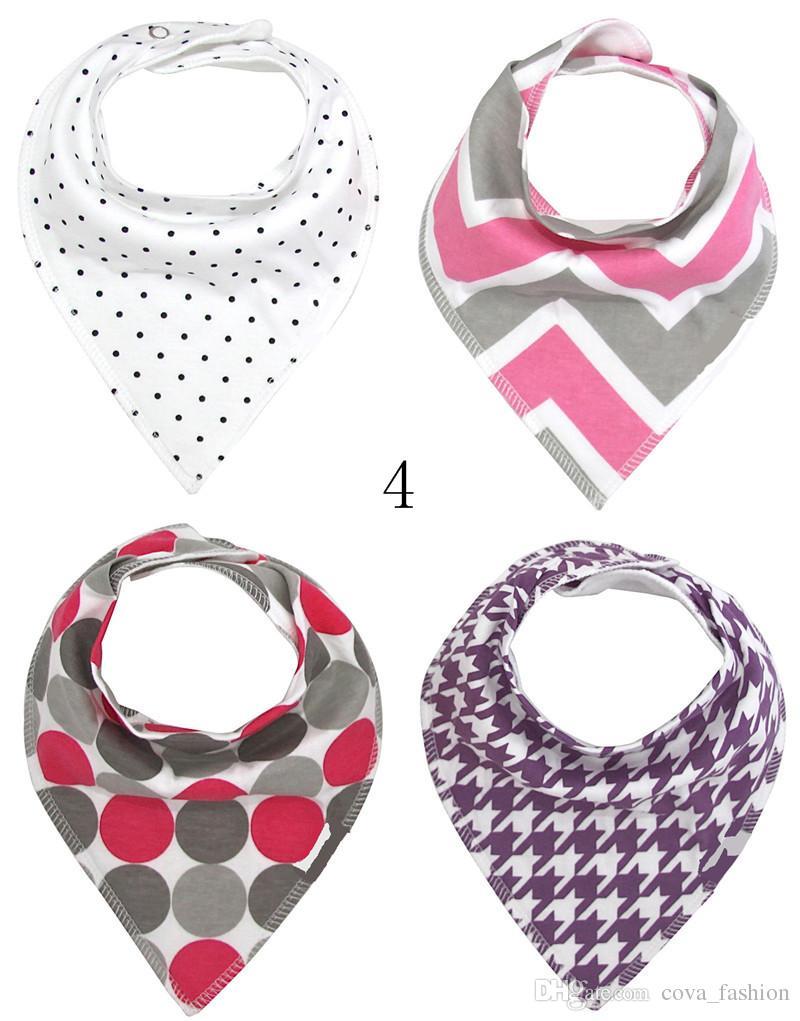 41 Designs baby infant triangle cartoon bibs burp cloths waterproof Pure cotton double layer bibs bandana scarf