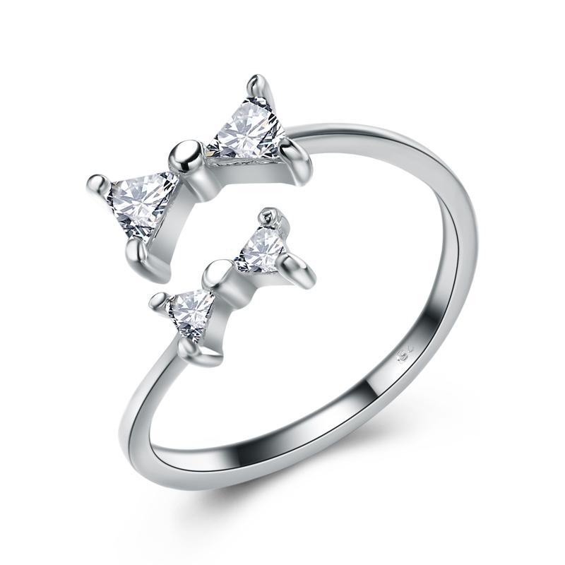 2018 High Quality Latest Design Diamond Ring Beautiful Triangle ...