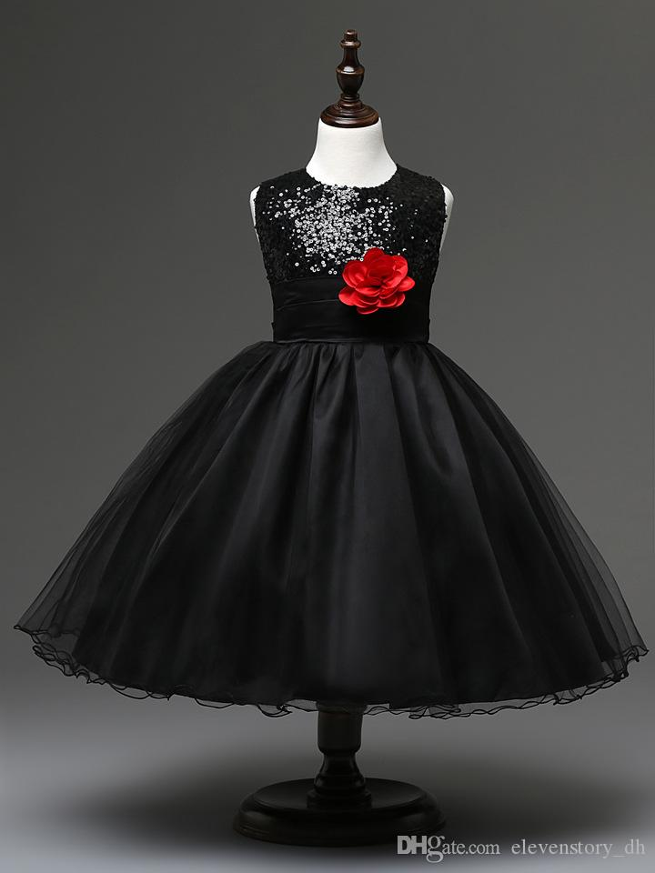 4 to 12 years Girls new summer SEQUINED flower tutu dresses, baby kids & teenager tulle ball grown shining clothing, Retail, R1AA511DS-10