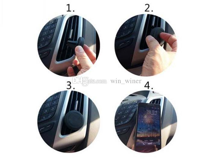 New Auto Car Holder Mini Air Vent Outlet Mount Magnet Magnetic Phone Mobile Holder Universal