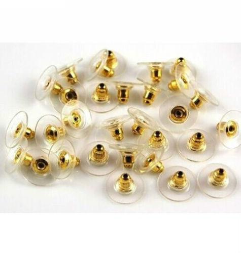 Silver Gold Earnuts Earring Backs Stoppers Findings For Jewelry Making