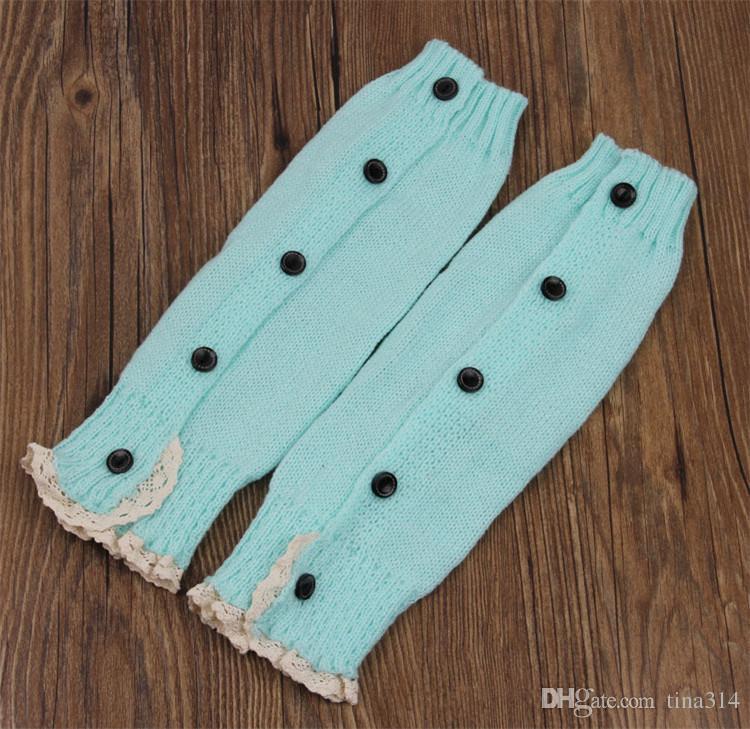 Hot 7 Farbe Kinder häkeln Spitzenstiefel Manschetten handgemachte Knit Beinwärmer Ballett Spitze Boot Cuff Beinwärmer Weihnachten Boot Socken deckt BB107