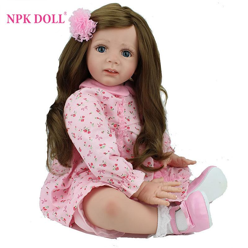 24 Inch Reborn Baby Doll Lifelike Girls Vinyl Baby Toys
