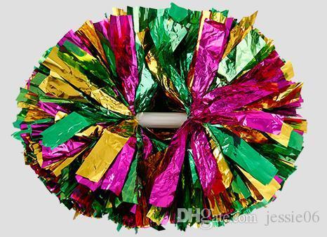 Fête carnaval acclamations pom pom poignée en plastique cheerleading fleur danse main balle sports concert vocal pom-pom girls balle halloween fournitures