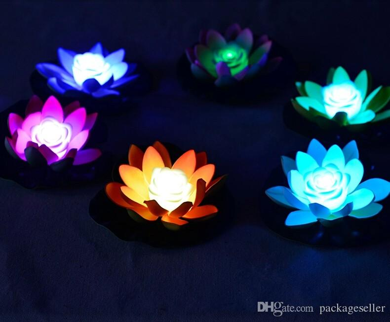 2019 Artificial Led Lotus Flower Lamp In Colorful Changed Water Pool