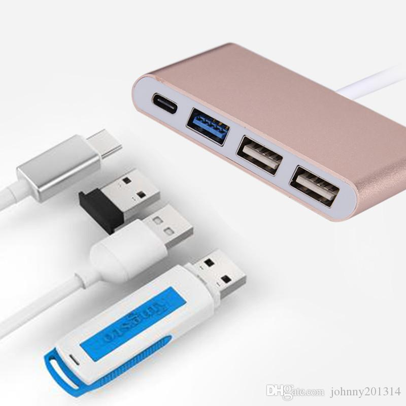 4 in 1 Multiple Type C USB 3.0 USB 2.0 USB-C OTG Hub Charging Converter Convertor Adapter for Laptop Tablet PC