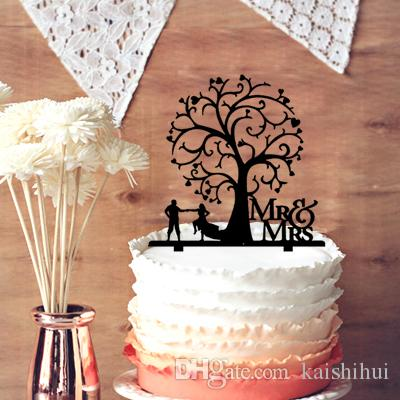 2019 Mr Mrs Wedding Anniversary Cake Topper Rustic Bride And