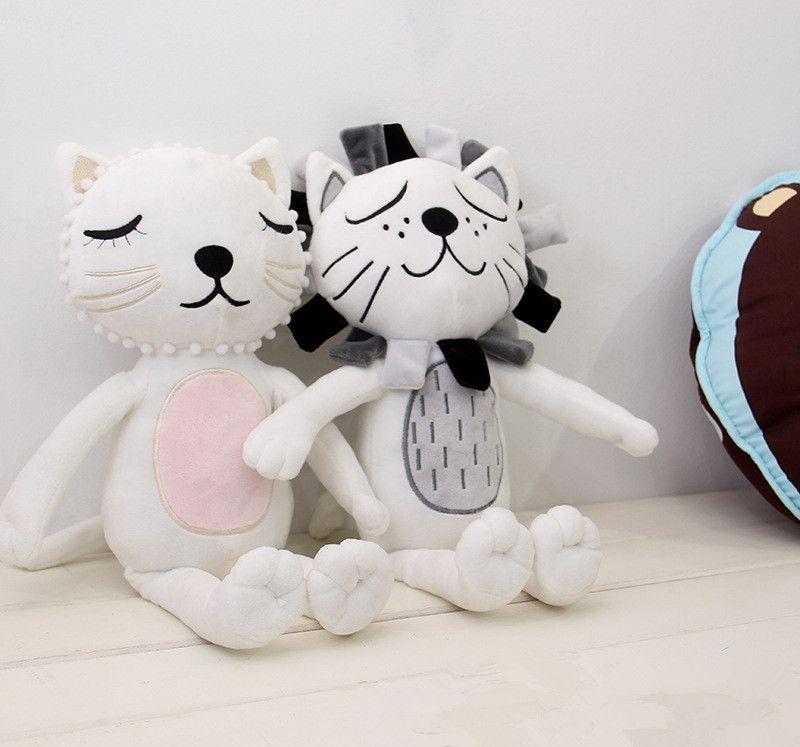 16X33cm Doux Bébé Jouets 2016 dessin animé animaux Lion Chat Forme Poupées Enfants fille garçon Chambre Lit Décoration Anniversaire Cadeau Taille