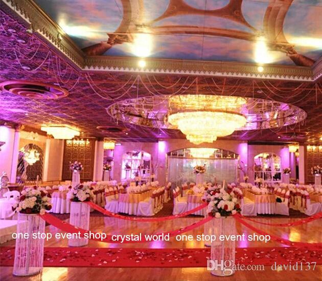 27inch de altura Base de flor carrinho de avestruz decoração de penas centrais do casamento