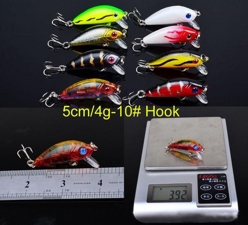 43 unids / lote Señuelos de Pesca Conjunto Mixto 6 Modelos 43 Clolor Minnow Señuelo Crank Bait Cebos de Pesca Bass Tackle