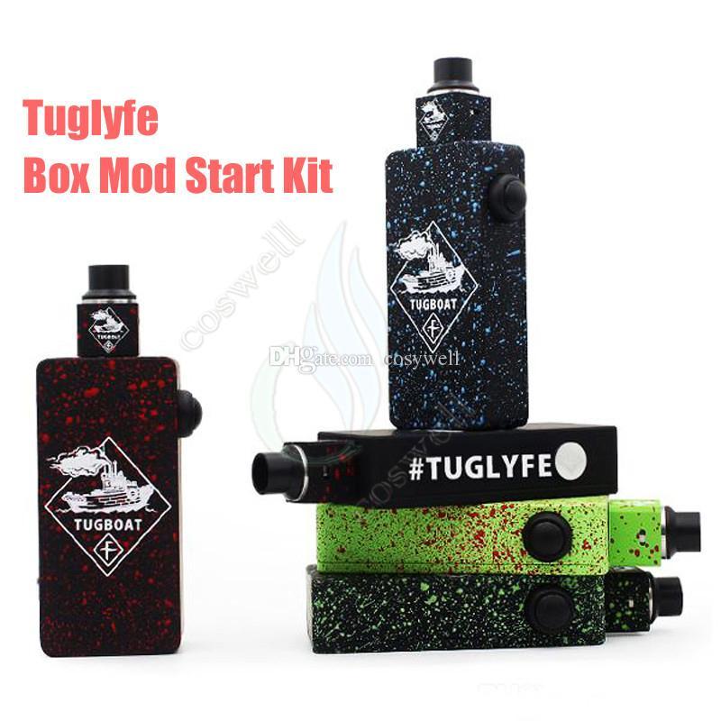 Top Tuglyfe Kits de mod de caja no reglamentados Remolcadores de vapor de remolcador Cubos RDA Atomizador mecánico de velocidad completa Barco remolcador RDA Vaporizador e cigarrillos cigs