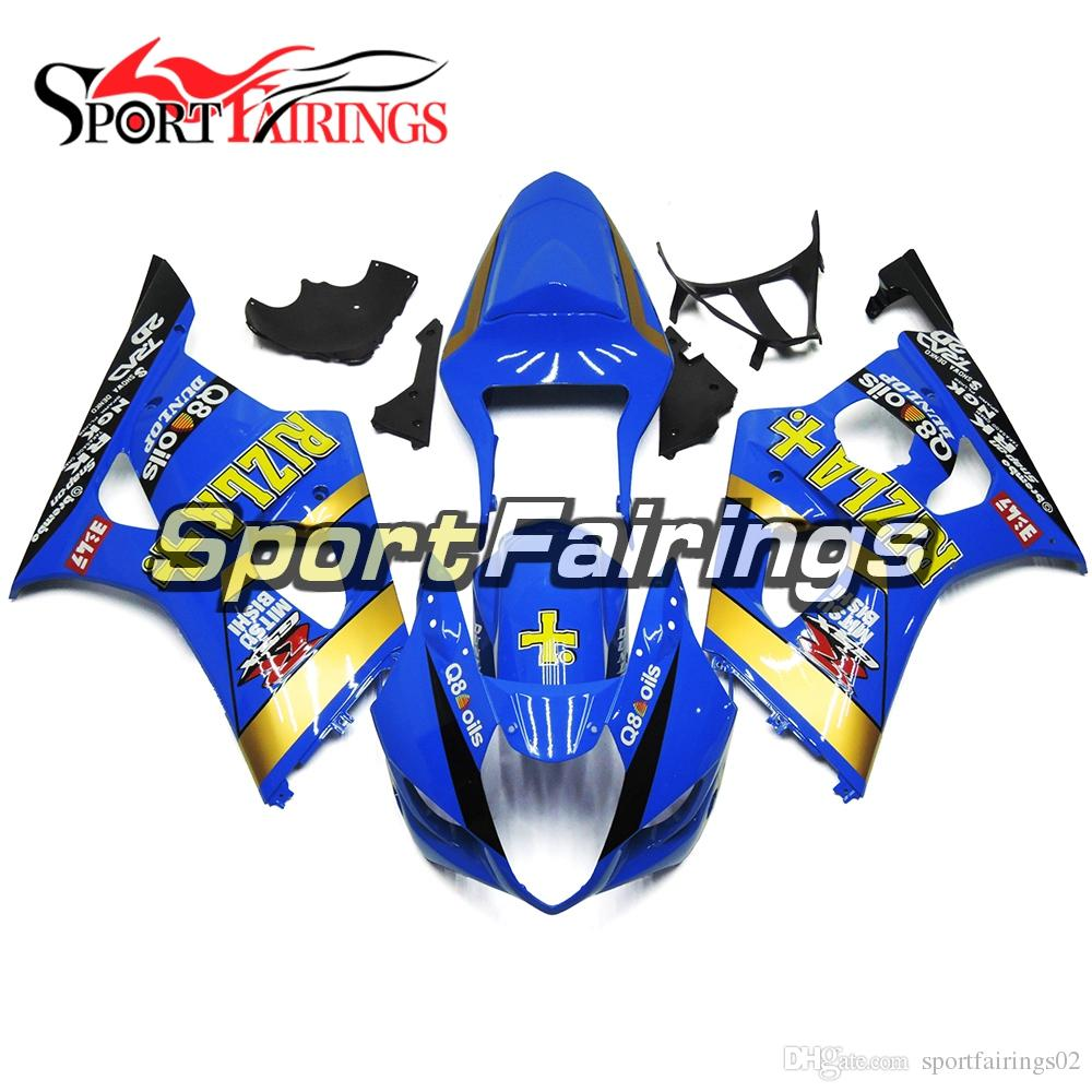 Full Fairing Kit Rizla + Blue For Suzuki GSXR1000 GSX-R1000 K3 03 04 2003 2004 Injection ABS Plastic Motorcycle Body Kit Bodywork Cowling