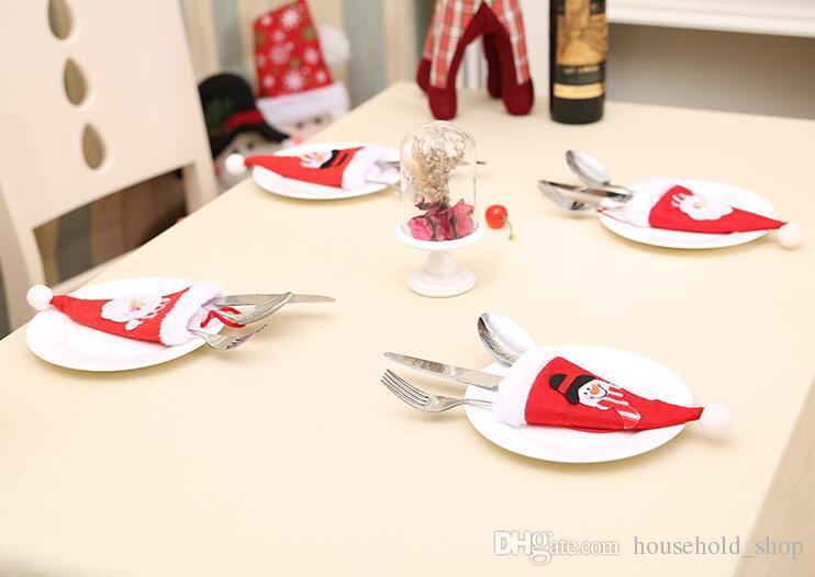 2019 Christmas Tableware Cutlery Set Bags Knife Fork Spoon Holder