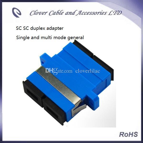 Vente chaude et Bonne qualité Conforme RoHS duplex SC adaptateur optique à bride en fibre optique Connecteur optique