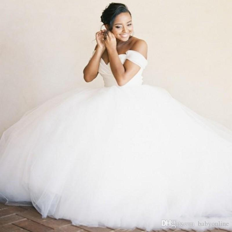 Cheap Wedding Dress 2017 Ball Gown Sweetheart Off The Shoulders ...