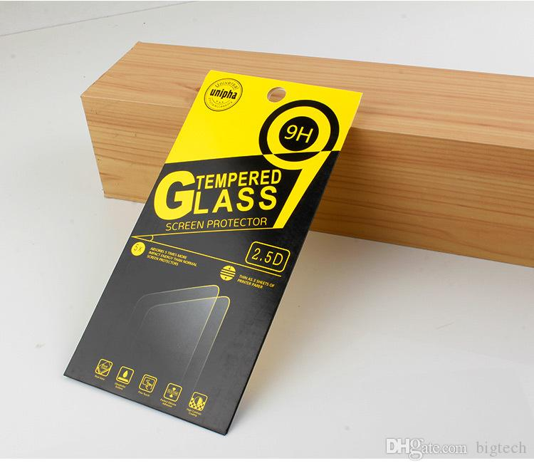 Wholesale Universal Packaging Box For 2.5D Elegant Round Edge 9H Anti-shock Tempered Glass Screen Protector For LG V20 iPhone 6s/7
