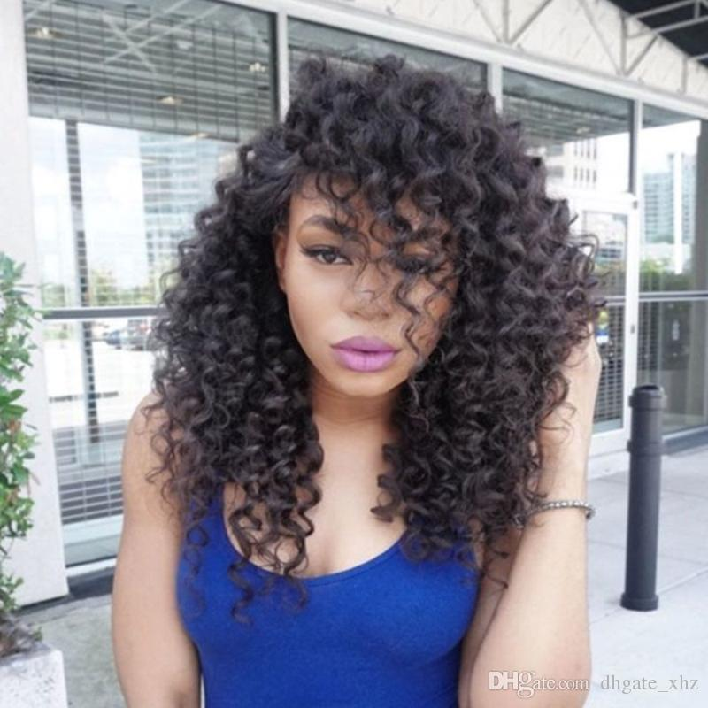 Wholesale Curly Full Lace Wig Human Hair With Baby Hair Bleached Knots Curly Lace Front Wig