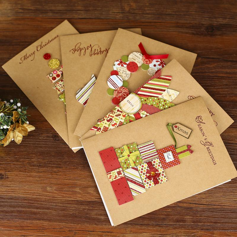 Christmas greeting cards holiday blessings stereo cards handmade christmas greeting cards holiday blessings stereo cards handmade creative card friends kraft paper greeting card stationery online store leader paper m4hsunfo