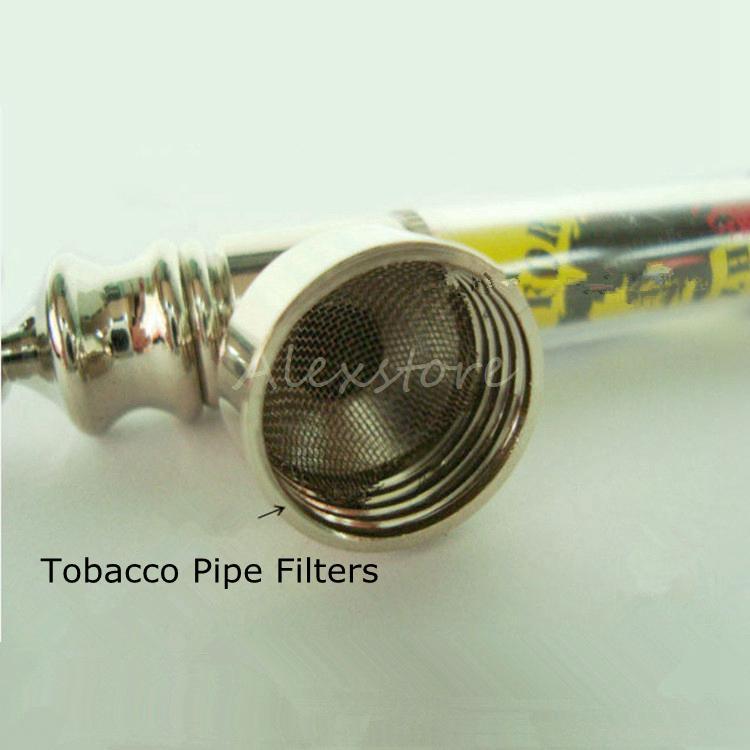 Tubulação de Fumo de Tabaco de Metal Filtros de Prata e Latão Inoxidável de 20mm de Malha de Tigela para Tubulação De Fumo 5 Peças / lote