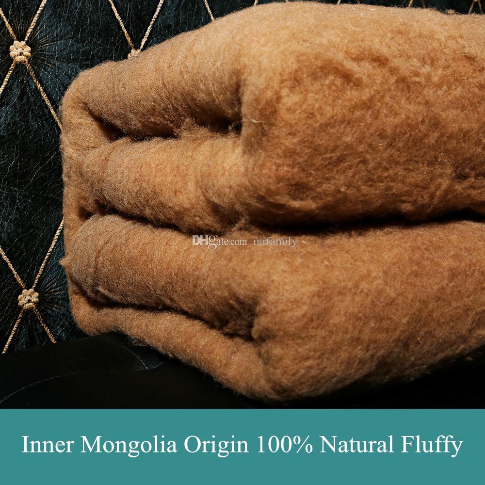 Rellenos de lana de camello 100% naturales garantizados / acolchados / abajo para ropa / chaqueta / abrigo / edredón / edredón / manta / ropa de cama, tamaño personalizado gratis, al por mayor