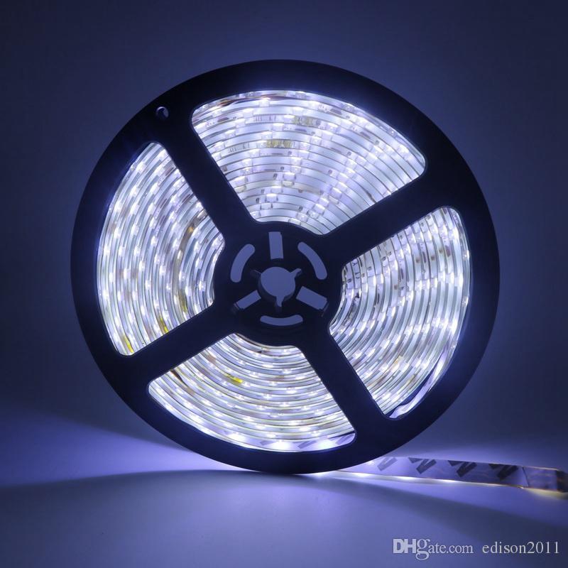 Edison2011 IP65 방수 5M 3528 LED 스트립 라이트 300 LED가 DC 12V 화이트 RGB 블루 60 개의 LED / M LED 테이프 리본 스트립