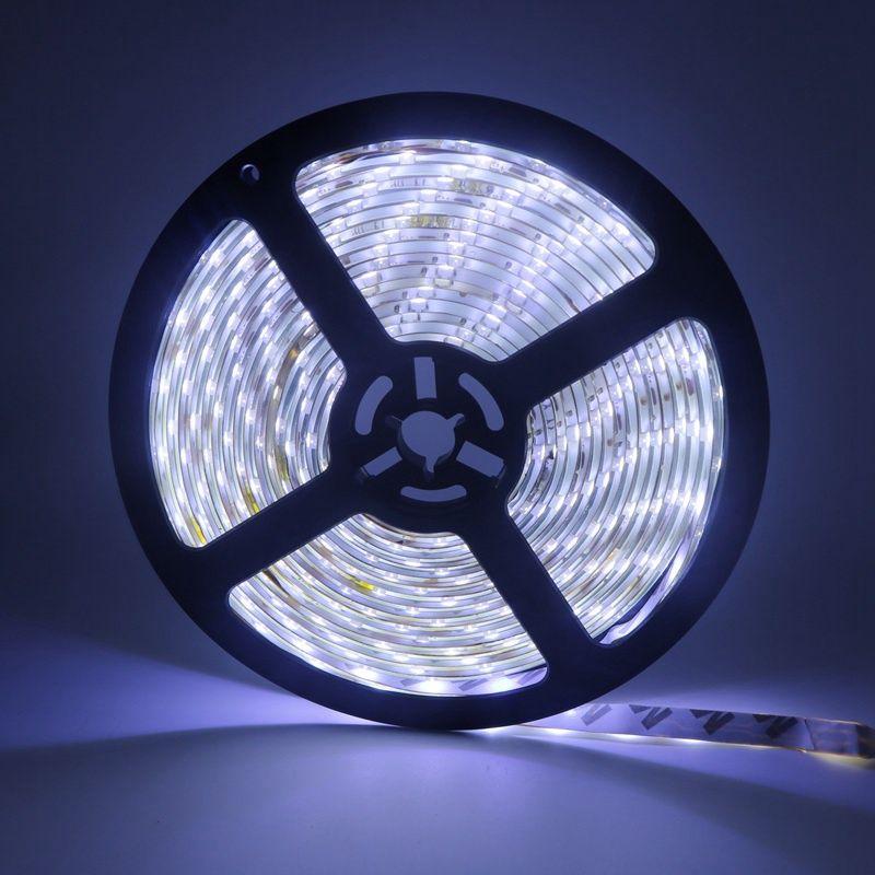 Edison2011 IP65 étanche 5 M 3528 LED Light Strip 300 LEDS DC 12V Blanc Bleu RGB 60 LED / M LED Ruban Ruban bande