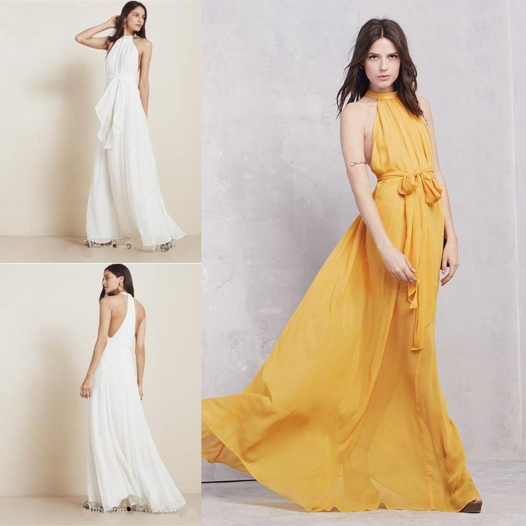Mustard long chiffon bridesmaid dresses summer a line maid of mustard long chiffon bridesmaid dresses summer a line maid of honor gowns plus size cheap for wedding guests party wear bridesmaid dresses for sale ombrellifo Image collections