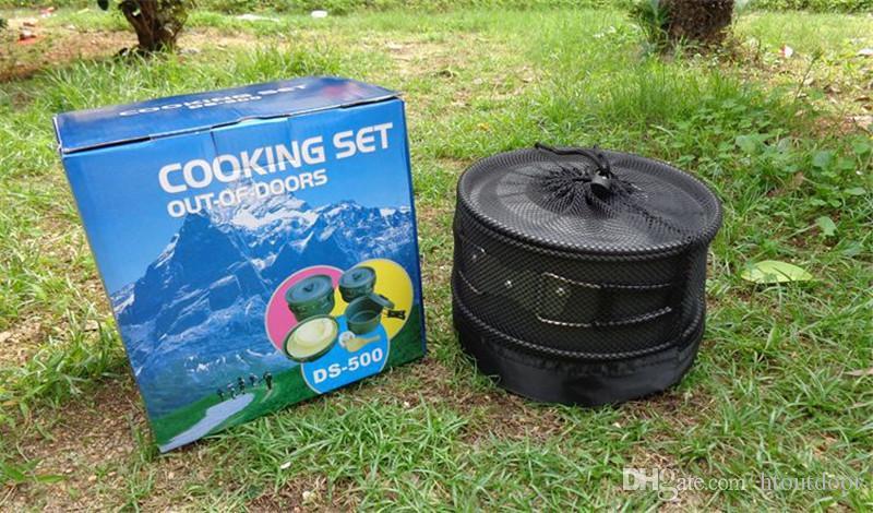 12 in 1 Outdoor Hiking Backpacking Camping Cucina Pentole da viaggio Picnic Bowl Pentola Padella Set 5 persone