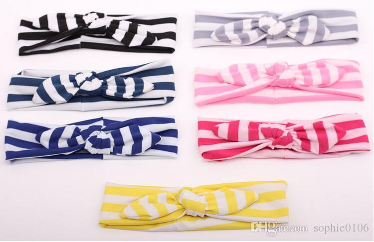 Cabeça de coelho Meninas Meninos listrado Headbands Crianças Meninas Hairband Acessórios do cabelo para meninas XM 016