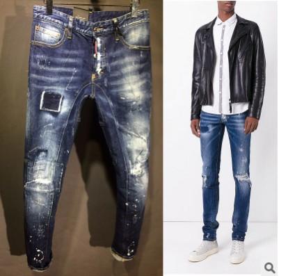 acheter 2018 meilleur prix automne marque jeans hommes skinny moto moto biker lav mince. Black Bedroom Furniture Sets. Home Design Ideas