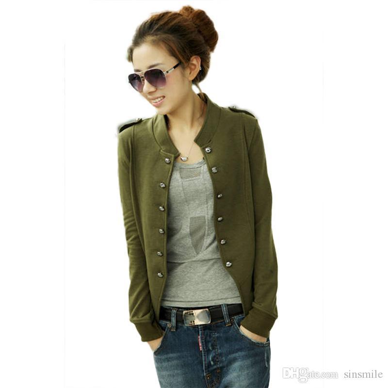 Wholesale Fashion Womens Ladies Jacket Military Short Jacket ...