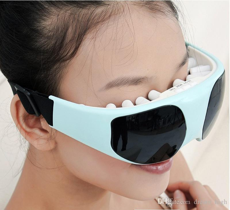 Electric Eye Massager Health Care Alleviate Fatigue Head Stress Tension Relief Tool Eye Massage Device Eye Beauty Instrument
