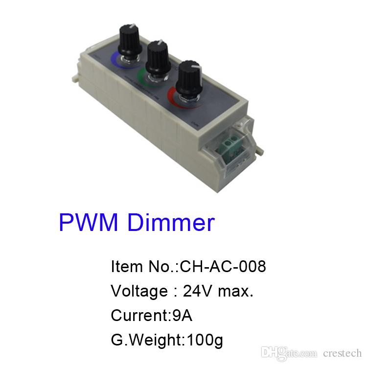 Led RGB Amplifier / PWM Dimmer / RF Controller Signal Repeater 120w 288w 576W Input dc 5v 12V 24V 24A for 2835 5050 light
